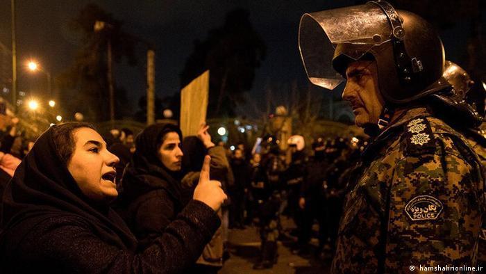 A protest in Tehran, Iran