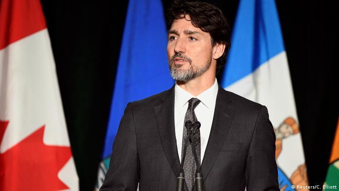 Kanada Trauer um die Opfer des Flugzeuabsturzes in Edmonton - Premierminister Justin Trudeau (Reuters/C. Elliott)
