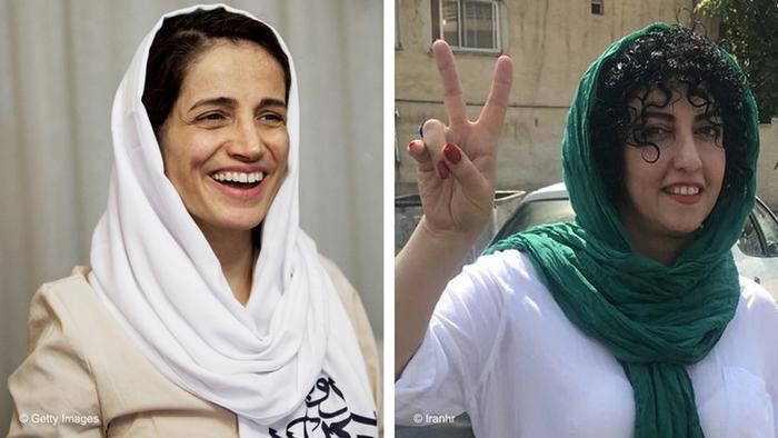 Kombobild Iran - Nasrin Sotoudeh und Narges Mohammadi