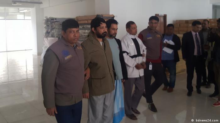 Bangladesh Kriminalpolizei von Bangladesch verhaftete Enamul Haque Enu und seinen Bruder Rupon Bhuiyan ( bdnews24.com)