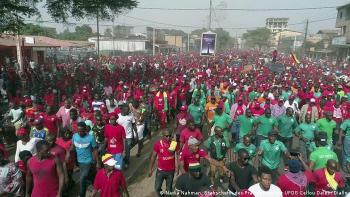 Une manifestation de l'opposition à Conakry, le 6 janvier 2020