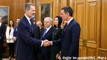 Spanien Madrid | Amtsantritt Regierung mit König Felipe VI. | Pedro Sanchez, Premierminister