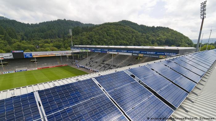 Deutschland Freiburg | Badenova-Stadion, Solarzellen
