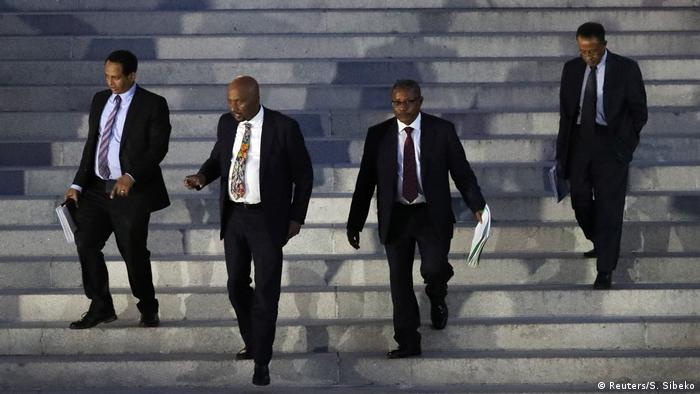 Ethiopia's Foriegn Minister Al Dardeery Mohamed Ahmed and his delegation in Washington (2019) (Reuters/S. Sibeko)