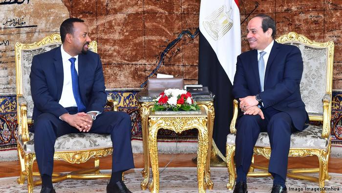 Ethiopian Prime Minister Abiy Ahmed Ali speaks with Egyptian President Abdel-Fattah al-Sisi (2018) (Imago Images/Xinhua)