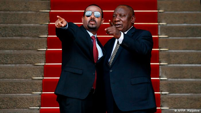 BG Grand Renaissance Dam |  Meeting between the Prime Minister of Ethiopia Abi Ahmed Ali and the President of South Africa Cyril Ramaphosa (AFP / P. Makako)