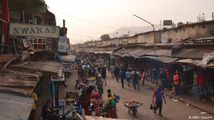 Ogbete Market street in Nigeria