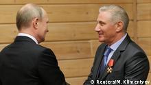 Russland Boris Rotenberg und Putin