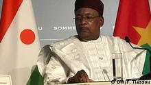 Es sind Bilder von G5-Sahel Gipfel vom 13.01.2020 in Pau in Frankreich. Mamadou Issifou von Niger Autor : Kossivi Tiassou