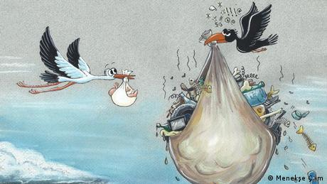 Cartoons for Future | Karikatur Clean the World (Menekşe Çam)