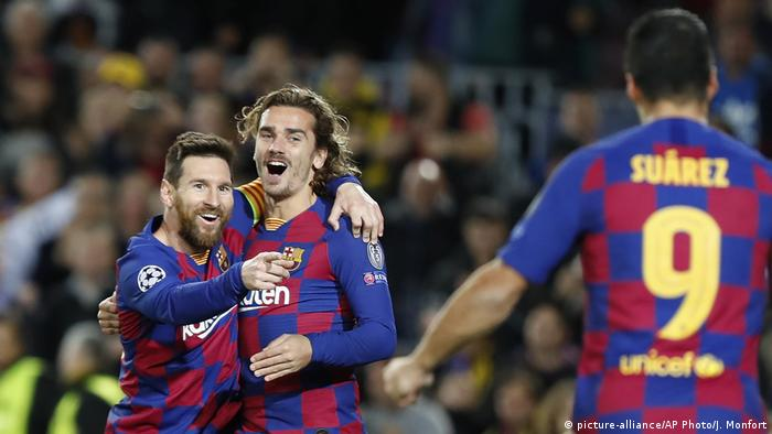 Champions League 2019 | FC Barcelona vs. Borussia Dortmund | Lionel Messi & Antoine Griezmann (picture-alliance/AP Photo/J. Monfort)