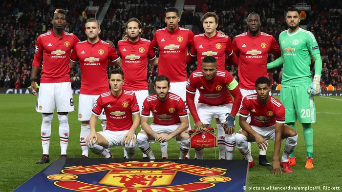 Champions League 2017 | Manchester United Mannschaftsbild (picture-alliance/dpa/empics/M. Rickett)