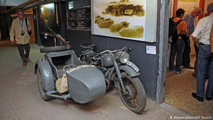 A German Wehrmacht motorcycle with sidecar, as used by the military during World War 2