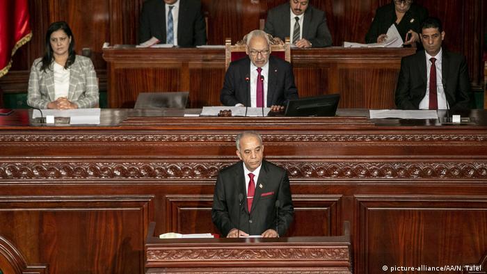 Tunesien Vertrauensabstimmung im Parlament (picture-alliance/AA/N. Talel )