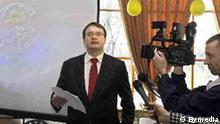Der belorussische oppositionelle Politiker Ales Mikhalevich Foto: Bymedia, Undatierte Aufnahme, Eingestellt 01.02.2010, Freigabe durch: Bymedia