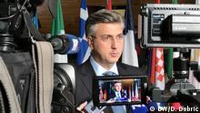 Frankreich l Europaparlament Straßburg - Andrej Plenkovic