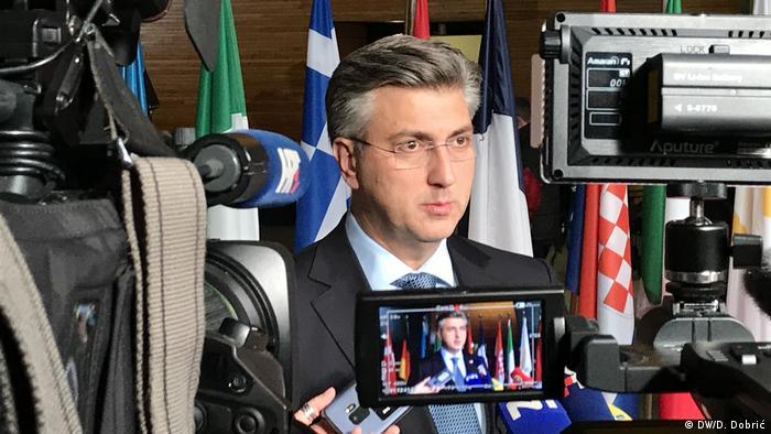 Frankreich l Europaparlament Straßburg - Andrej Plenkovic (DW/D. Dobrić)