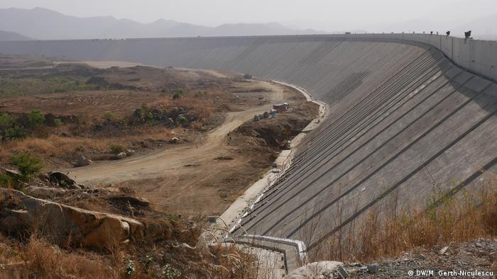 Construction site of the Ethiopian El Grand Renaissance Dam (DW / M. Kerth-Niculescu)