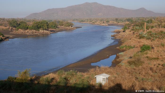Construction site of the Ethiopia El Grand Renaissance Dam El Blue Nile (DW / M. Kerth-Niculescu)