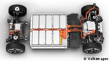 Chassis eines Elektroautos (VW ID 3)