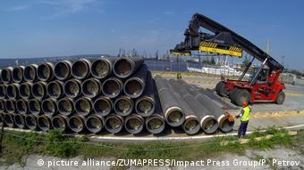 2014 год. Склад труб для Южного потока в болгарском порту Варна