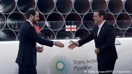 Турецкий министр и греческий премьер при начале строительства TAP