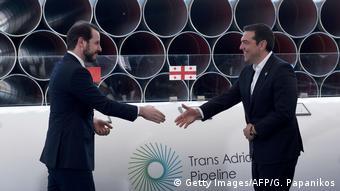Салоники, май 2016. Министр энергетики Турции Албайрак и премьер Греции Ципрас запускают строительство TAP