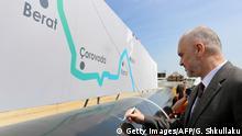 Albanien Gas l Trans-Adriatic Pipeline (TAP) - Premierminister Rama nahe Durrës