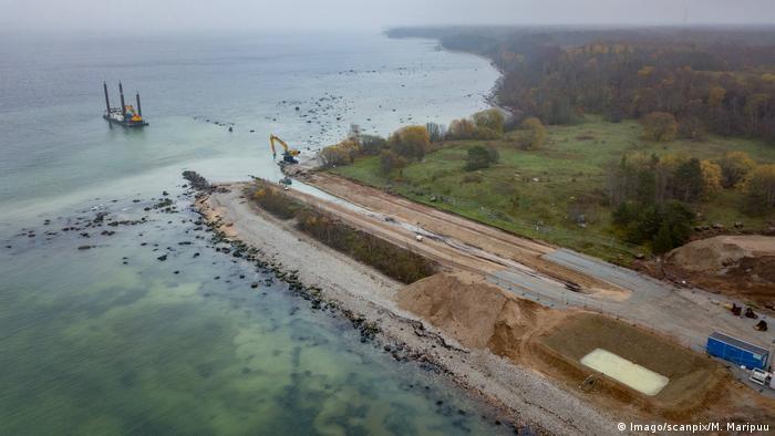 Строительство газопровода Balticconnector