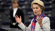 Frankreich, Straßburg: Ursula von der Leyen (CDU)