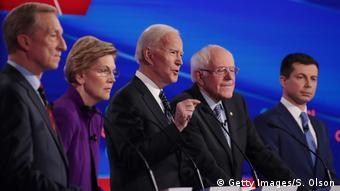 Iowa, Des Moines: CNN - Präsidentschaftskandidaten der Demokraten (Getty Images/S. Olson)