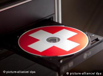 A CD with Swiss symbol on it