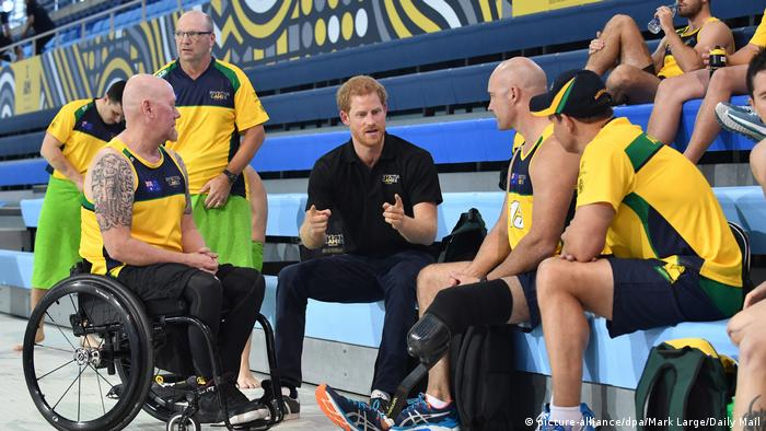 Kanada Toronto Invictus Games 2017 | Prinz Harry & Sportler (picture-alliance/dpa/Mark Large/Daily Mail)