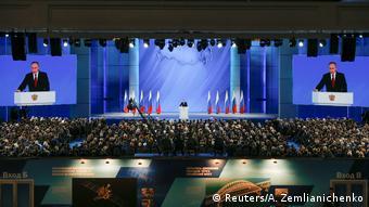 Москва, 15 января 2020 года. Владимир Путин объявляет о внесении поправок в Конституцию РФ