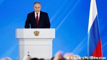 Russland Moskau | Wladimir Putin, Präsident | Rede zur Lage der Nation