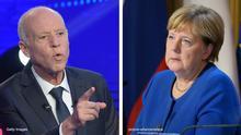 Bildkombo Kais Saied Angela Merkel