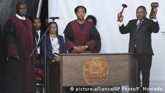 Mosambik Maputo | Einweihungszeremonie Filipe Nyusi, neuer Präsident