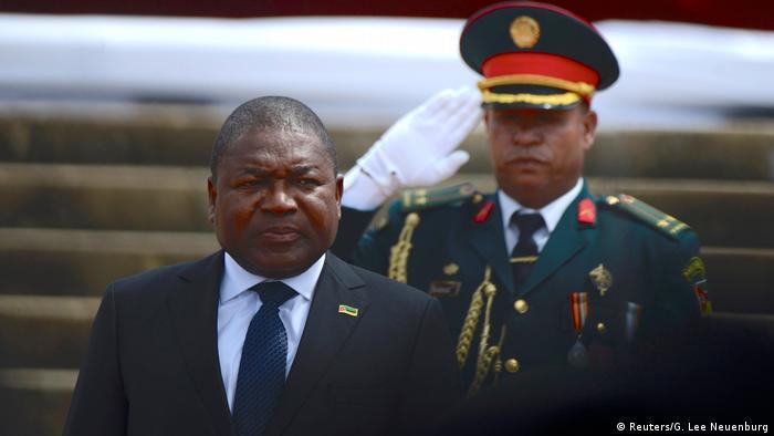 Mosambik Maputo   Einweihungszeremonie Filipe Nyusi, neuer Präsident