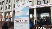 Russland Gaydar Forum 2020 in Moskau