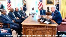 USA Washington | Treffen Fitsum Arega, Botschafter Äthiopien & Präsident Donald Trump