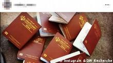 Menschenschmuggel in die Türkei Screenshot Instagram, Thema: Menschenschmuggel in die Türkei © Instagram & DW Recherche