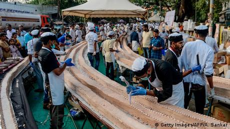 Indien Weltrekord-Kuchen in Thrissur (Getty Images/AFP/A. Sankar)