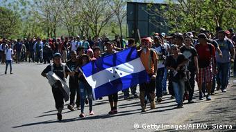Guatemala Migranten auf dem Weg in Richtung USA