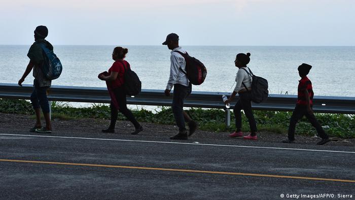 Guatemala Migranten auf dem Weg in Richtung USA (Getty Images/AFP/O. Sierra)