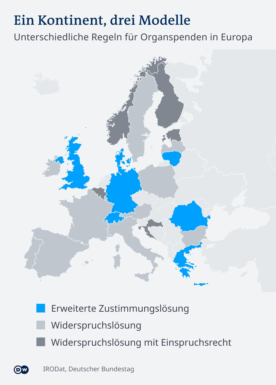 Infografik Karte Organspende Europa DE