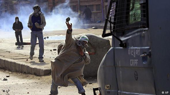 Indien Kaschmir Demonstranten in Srinagar Flash-Galerie