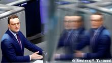 German Health Minister Jens Spahn speaks during a plenum session on organ donation at the lower house of parliament Bundestag, in Berlin, Germany, January 16, 2020. REUTERS/Michele Tantussi