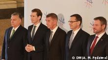 Tschechien Treffen Visegrade Gruppe in Prag