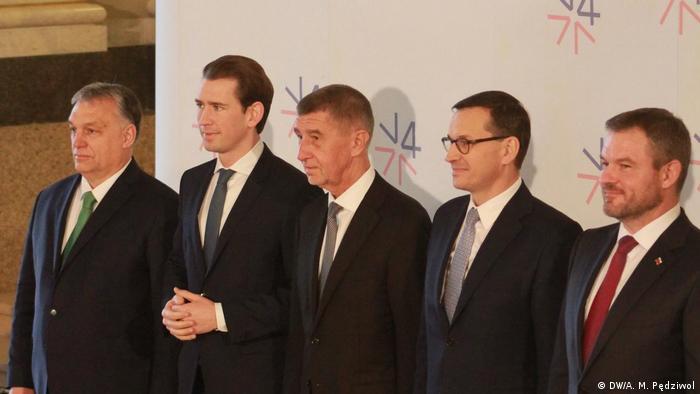 Od lewej: Viktor Orbán, Sebastian Kurz, Andrej Babiš, Mateusz Morawiecki, Peter Pellegrini
