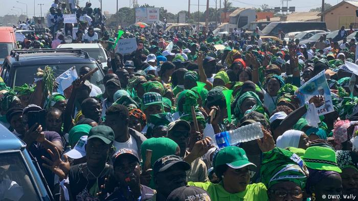 Yahya Jammeh supporters rallying in Banjul
